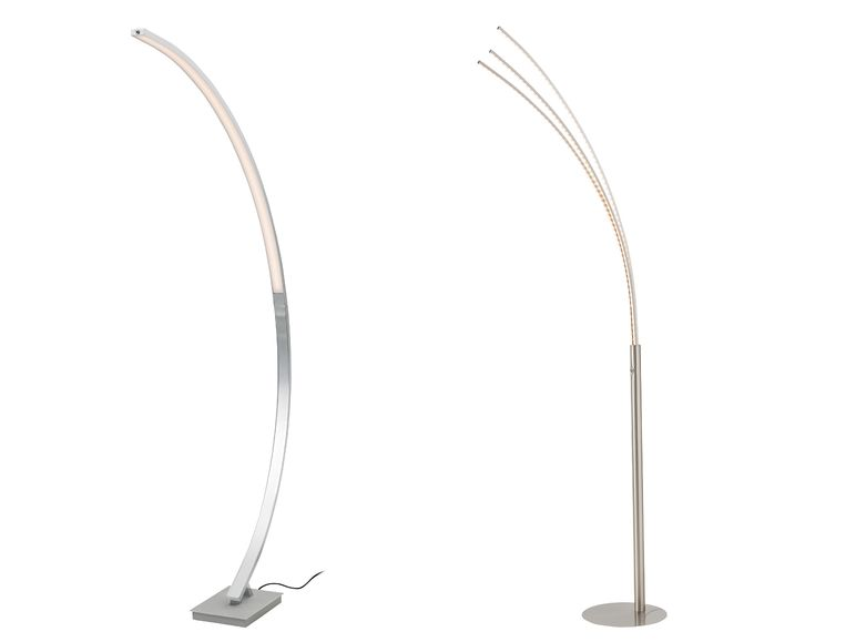 Lidl Wohnleuchte LED-Dimmbar, Palm-/ Bogenlampe