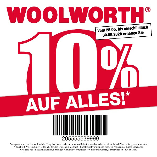 Woolworth Gutschein, Coupon