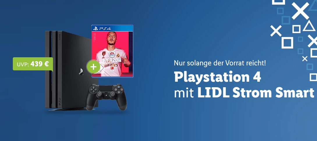 Lidl Aktion Strom PlayStation 16,- Euro